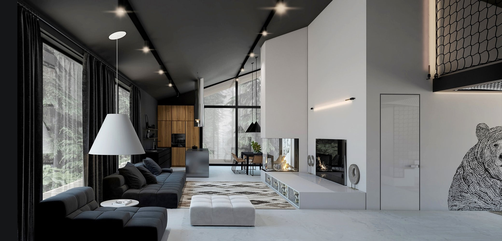 Black White House Home Design